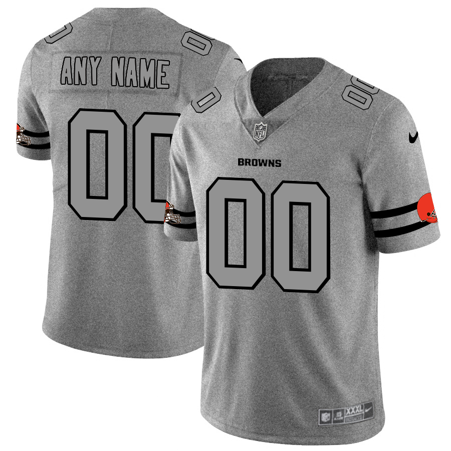 Nike Browns Customized 2019 Gray Gridiron Gray Vapor Untouchable Limited Jersey