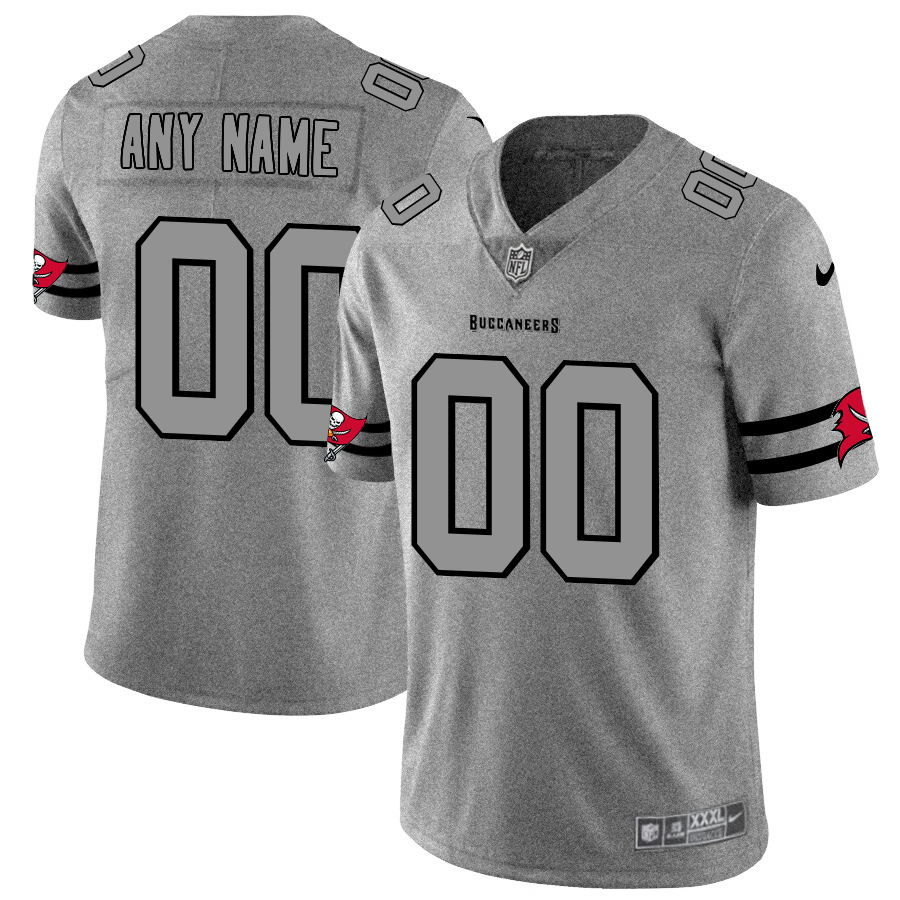 Nike Buccaneers Customized 2019 Gray Gridiron Gray Vapor Untouchable Limited Jersey