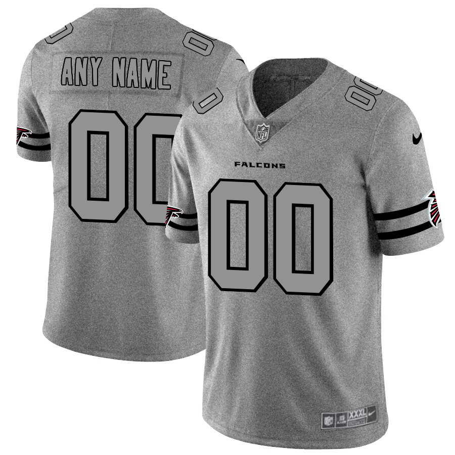 Nike Falcons Customized 2019 Gray Gridiron Gray Vapor Untouchable Limited Jersey