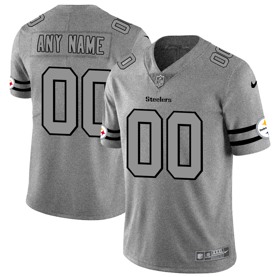 Nike Steelers Customized 2019 Gray Gridiron Gray Vapor Untouchable Limited Jersey