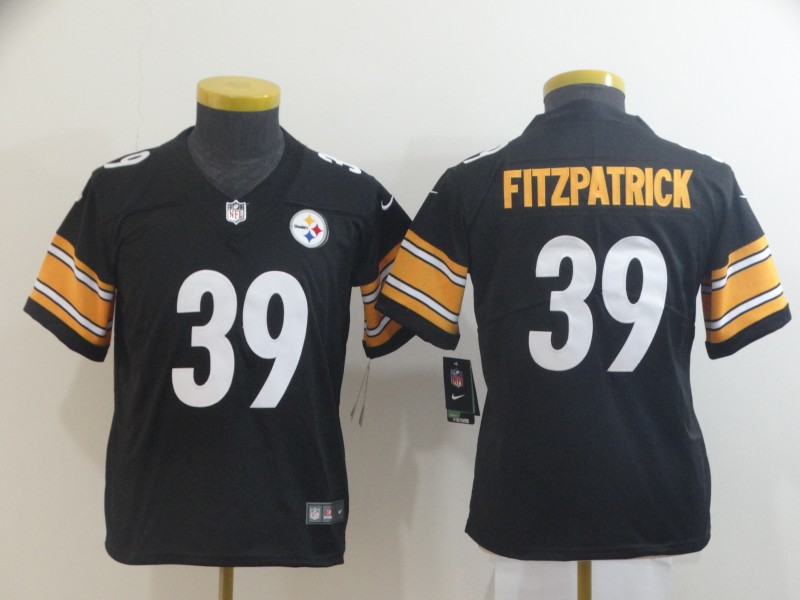 Nike Steelers 39 Minkah Fitzpatrick Black Youth Vapor Untouchable Limited Jersey