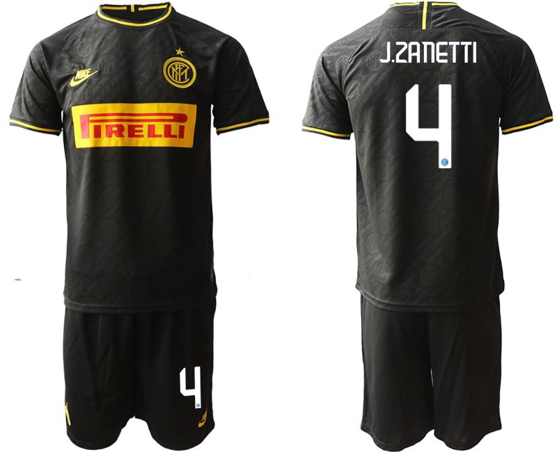 2019-20 Inter Milan 4 J.ZANETTI Third Away Soccer Jersey