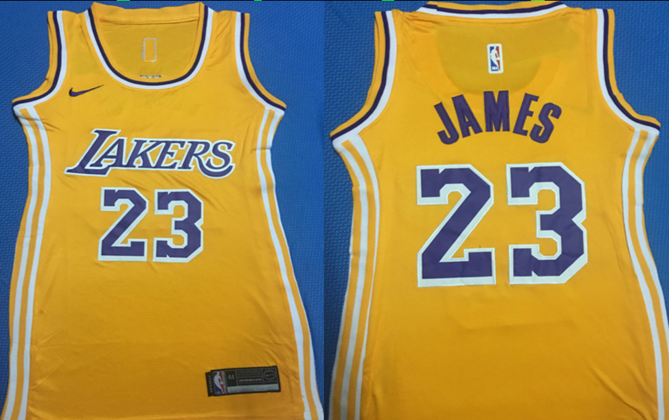 Lakers 23 Anthony Davis Yellow Women Nike Swingman Jersey