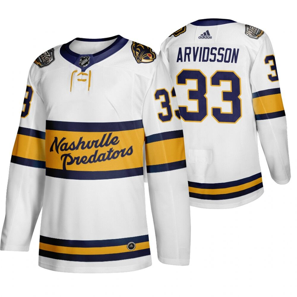 Predators 33 Viktor Arvidsson White 2020 Winter Classic Adidas Jersey