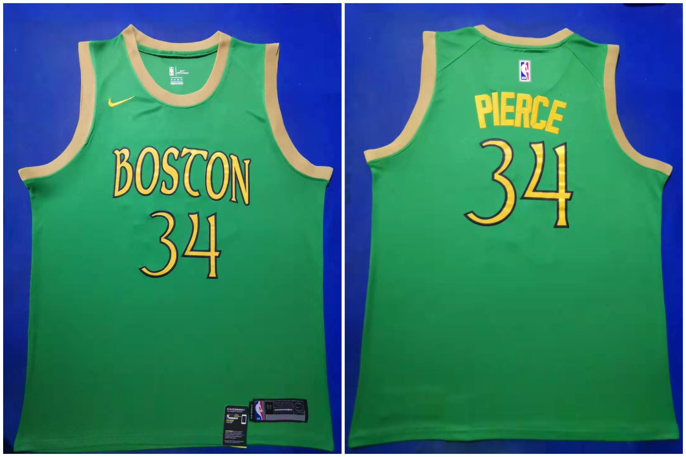 Celtics 34 Paul Pierce Green 2019-20 City Edition Swingman Jersey