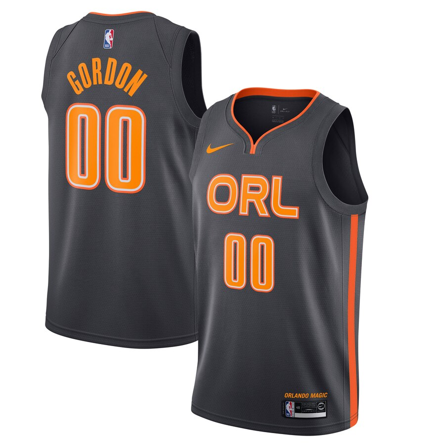 Magic 00 Aaron Gordon Black 2019-20 Nike Swingman Jersey