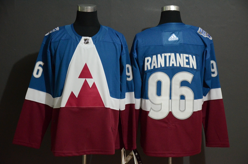 Avalanche 96 Mikko Rantanen Blue Red 2020 NHL Stadium Series Adidas Jersey