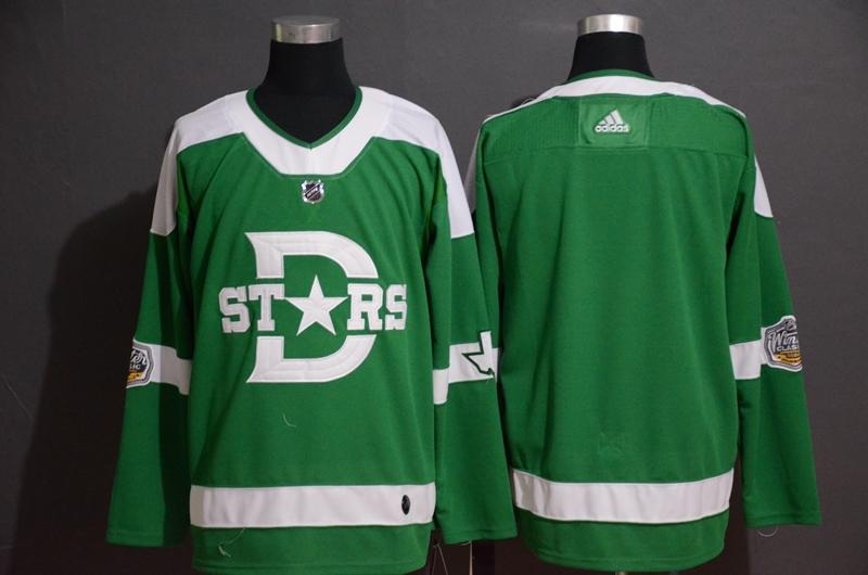 Stars Blank Green 2020 Winter Classic Adidas Jersey