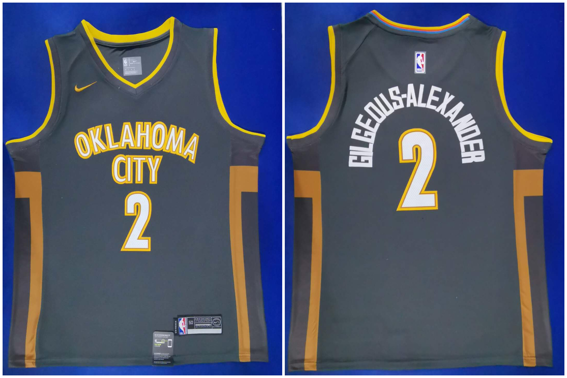 Thunder 2 Shai Gilgeous Alexander Black City Edition Nike Swingman Jersey