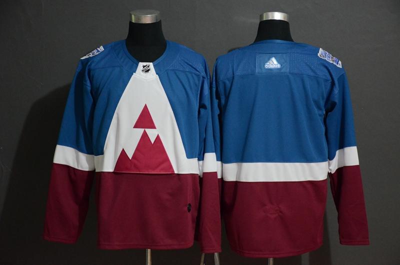 Avalanche Blank Blue Red 2020 NHL Stadium Series Adidas Jersey