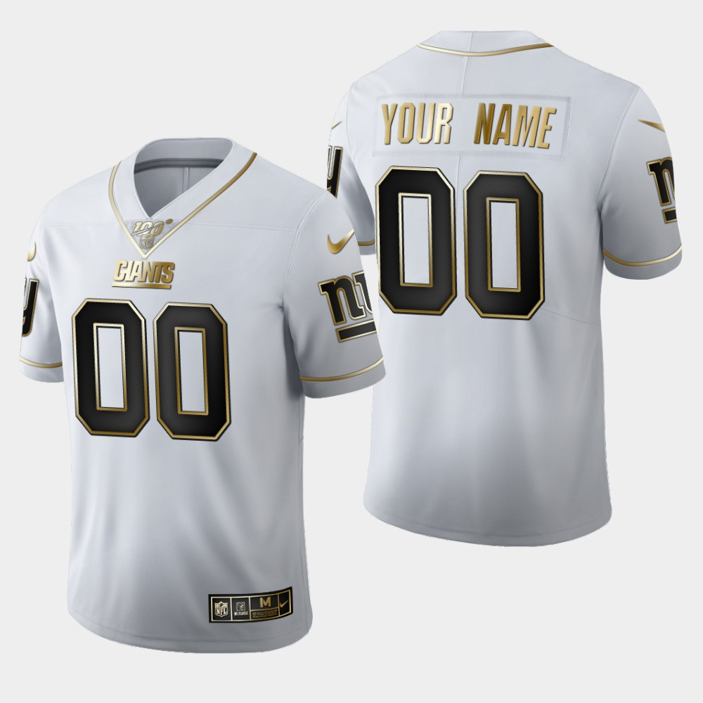 Nike Giants Customized White 100th Season Vapor Untouchable Limited Jersey