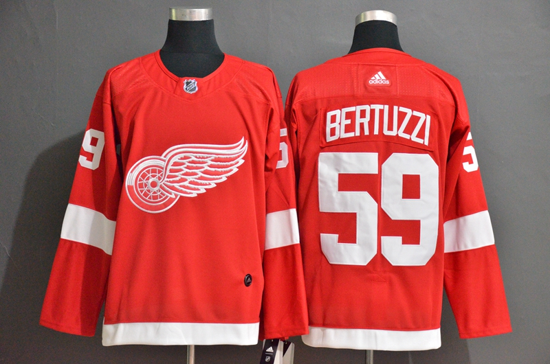 Red Wings 59 Tyler Bertuzzi Red Adidas Jersey