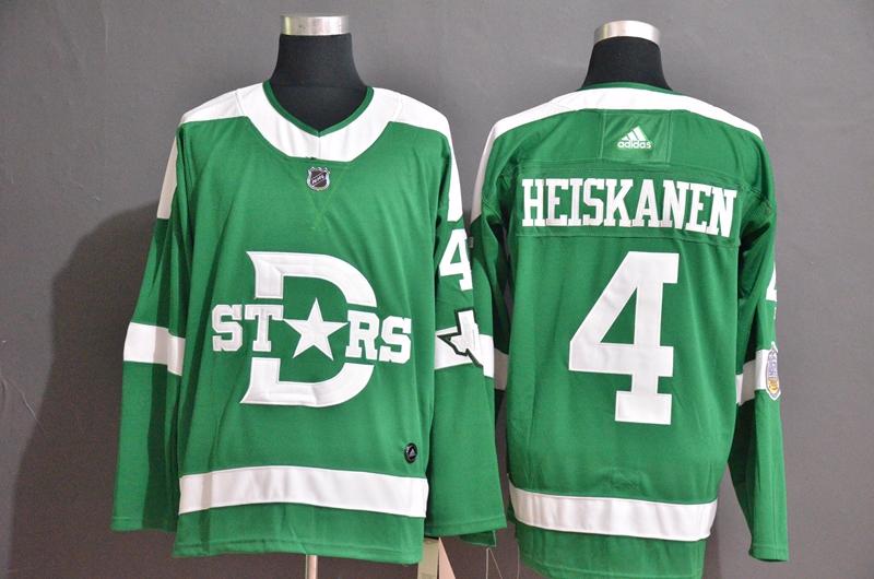 Stars 4 Miro Heiskanen Green 2020 Winter Classic Adidas Jersey