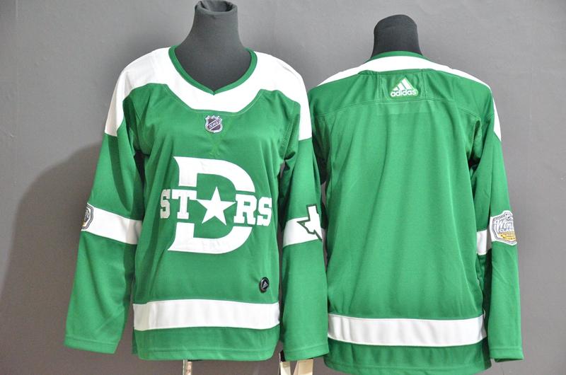 Stars Blank Green Women 2020 Winter Classic Adidas Jersey