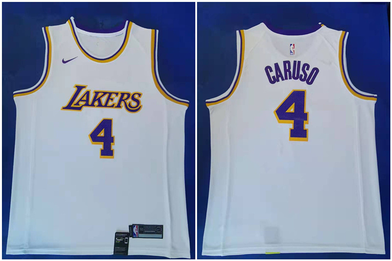 Lakers 4 Alex Caruso White Nike Swingman Jersey