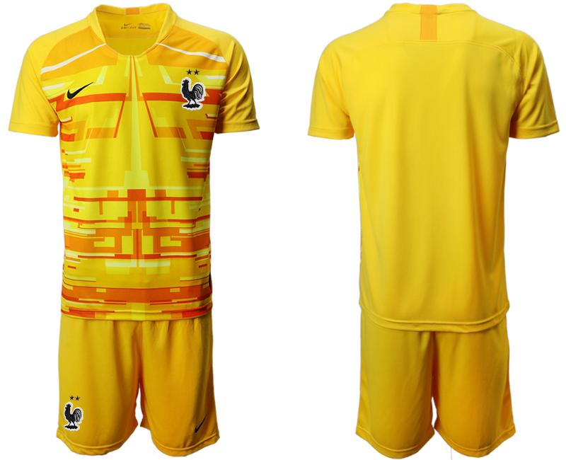 France Yellow Goalkeeper UEFA Euro 2020 Soccer Jersey