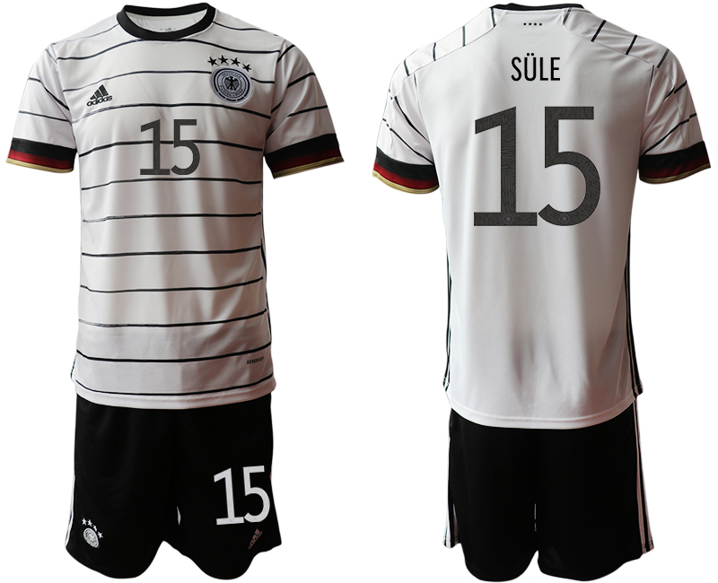 Germany 15 SULE Home UEFA Euro 2020 Soccer Jersey