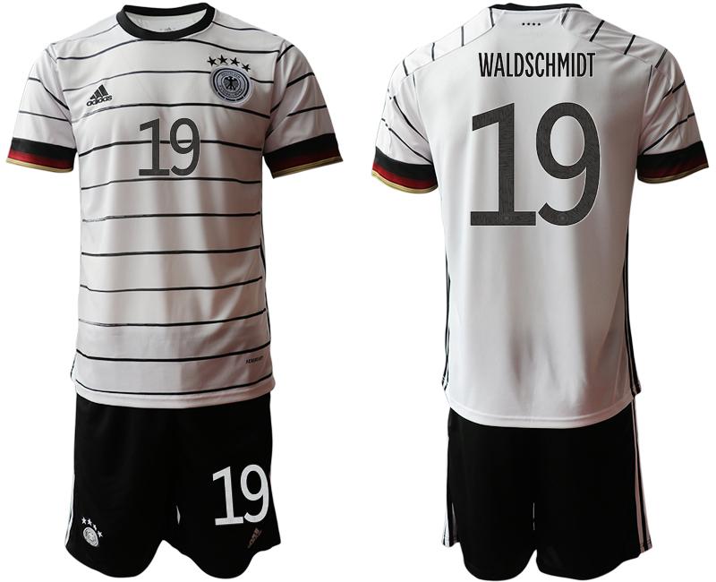 Germany 19 WALDSCHMIDT Home UEFA Euro 2020 Soccer Jersey