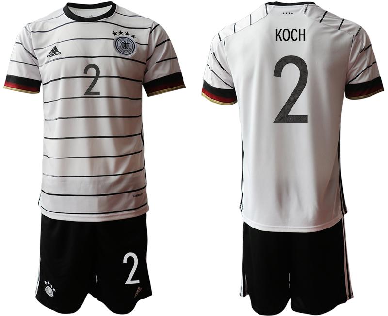 Germany 2 KOCH Home UEFA Euro 2020 Soccer Jersey