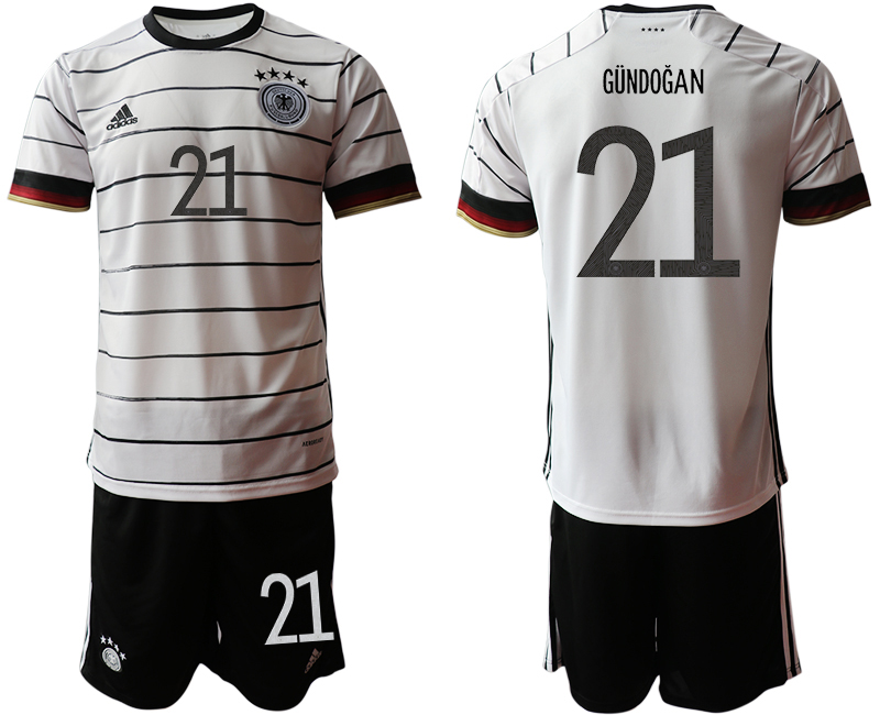 Germany 21 GUNDOGAN Home UEFA Euro 2020 Soccer Jersey