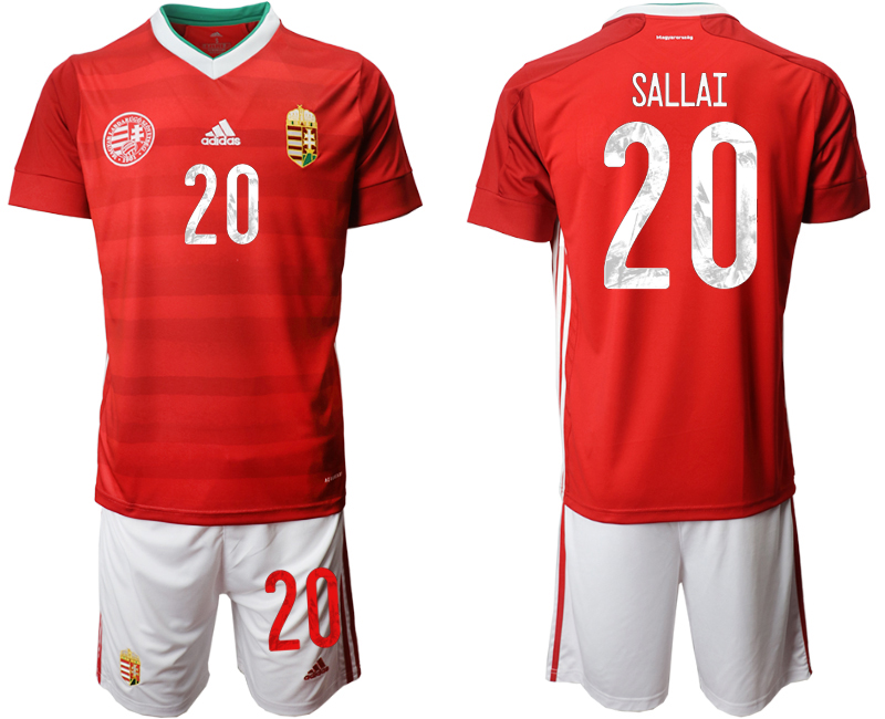 Hungary 20 SALLAI Home UEFA Euro 2020 Soccer Jersey