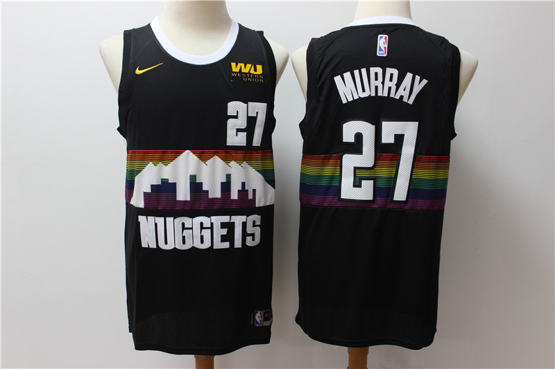 Nuggets 27 Jamal Murray Black 2019-20 City Edition Nike Swingman Jersey