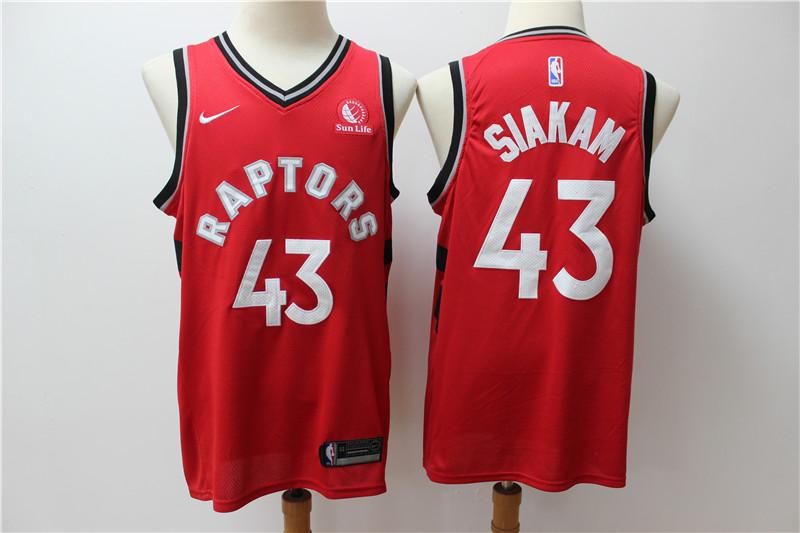 Raptors 43 Pascal Siakam Red Nike Swingman Jersey