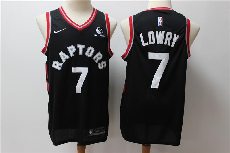 Raptors 7 Kyle Lowry Black Nike Swingman Jersey