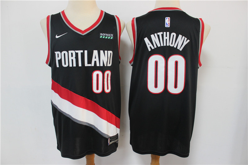 Blazers 00 Carmelo Anthony Black Nike Swingman Jersey