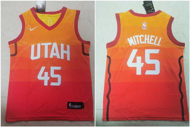 Jazz 45 Donovan Mitchell Multi Color Youth City Edition Nike Swingman Jersey