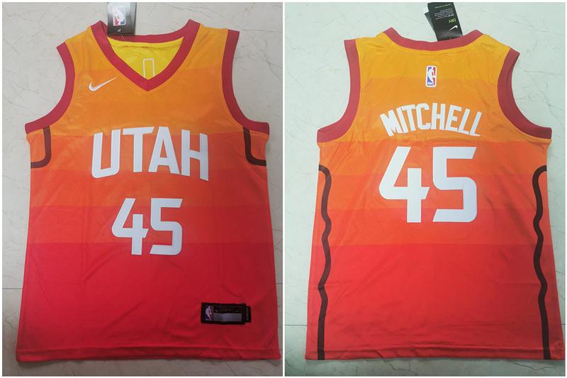 Jazz 45 Donovan Mitchell Multi Color Youth City Edition Nike Swingman Jersey
