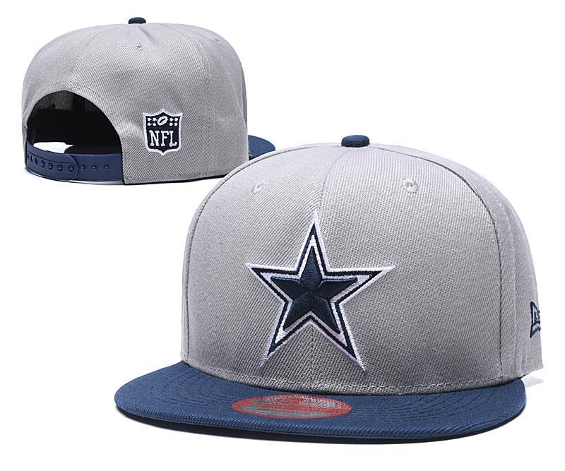 Cowboys Team Logo Gray Adjustable Hat LH