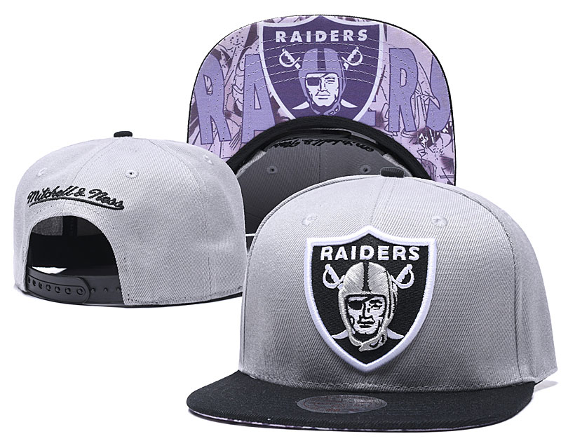 Raiders Team Logo Gray Adjustable Hat LH