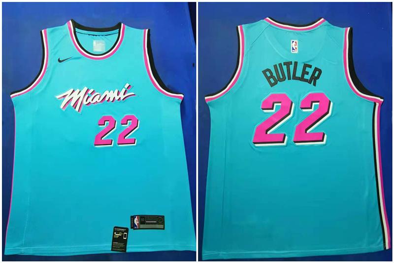 Heat 22 Jimmy Butler Blue 2019-20 Nike City Edition Swingman Jersey