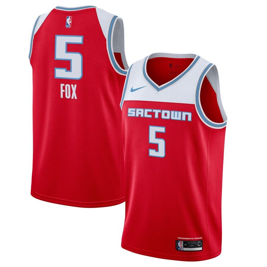 Kings 5 De'Aaron Fox Red 2019-20 City Edition Nike Swingman Jersey