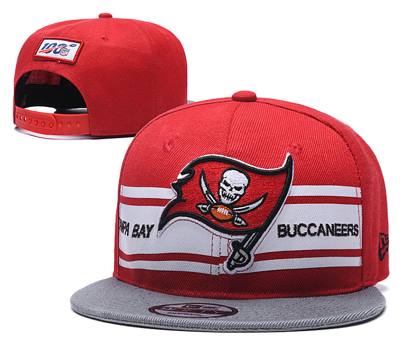 Buccaneers Team Logo Red 100th Seanson Adjustable Hat YD