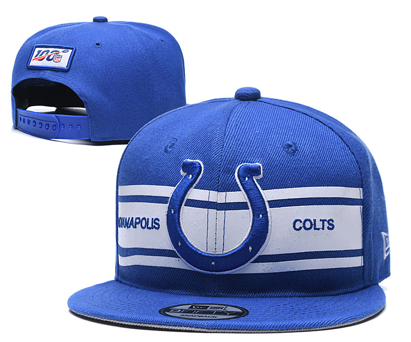 Colts Team Logo Blue 100th Seanson Adjustable Hat YD