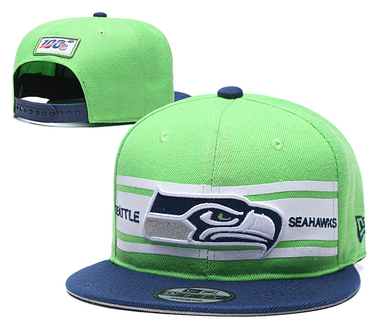 Seahawks Team Logo Green 100th Seanson Adjustable Hat YD