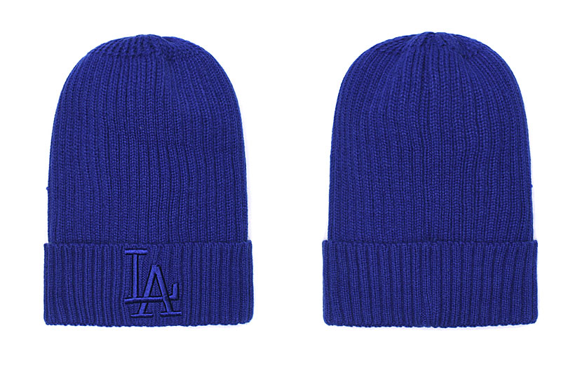 Dodgers Team Logo Blue Pom Knit Hat SG