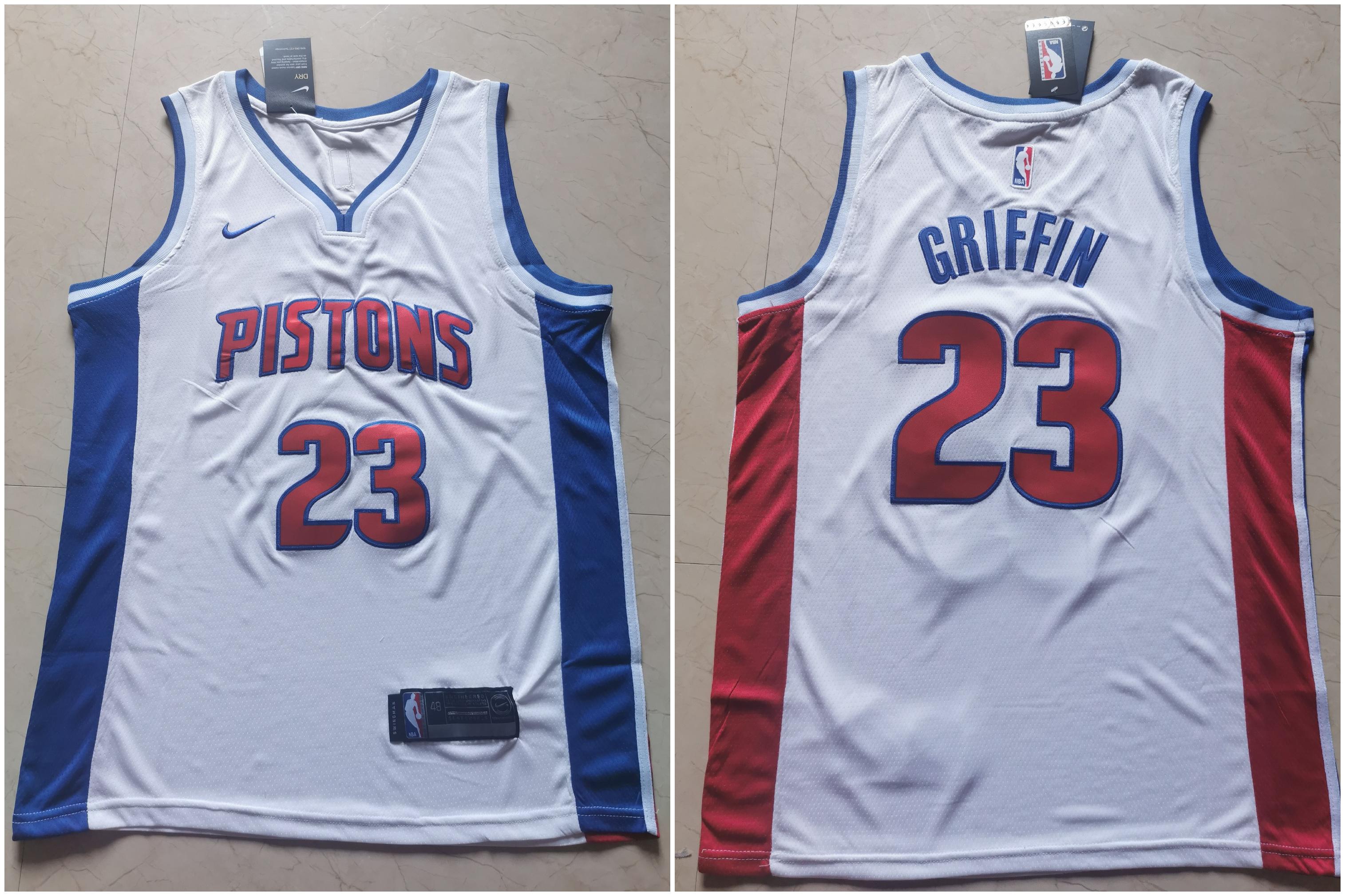 Pistons 23 Blake Griffin White Nike Swingman Jersey