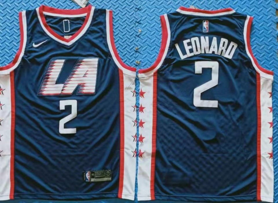 Clippers 2 Kawhi Leonard Navy City Edition Nike Swingman Jersey