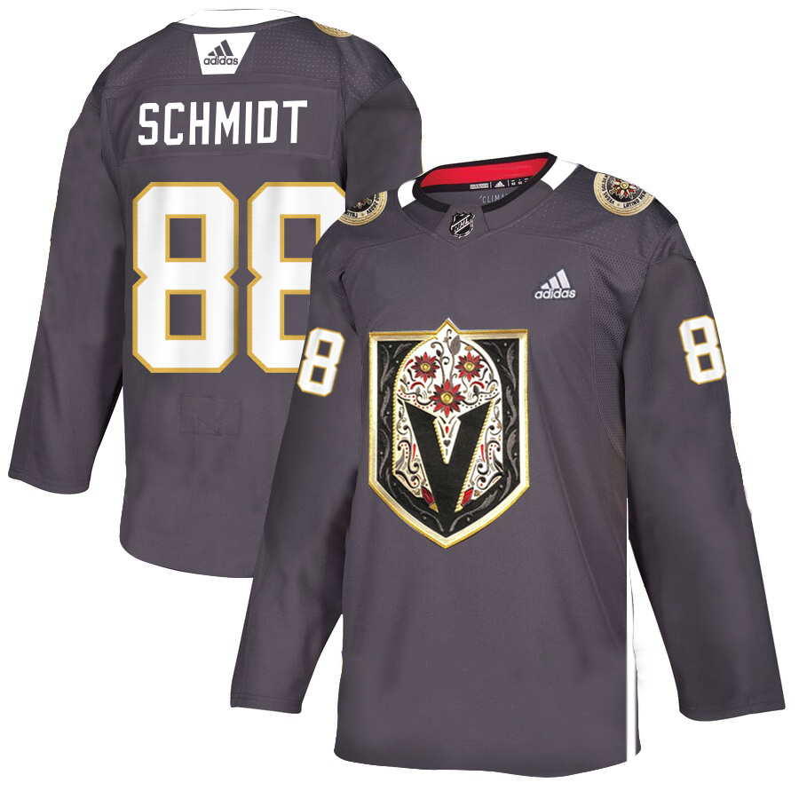 Vegas Golden Knights 88 Nate Schmidt Gray Dia De Los Muertos Adidas Jersey