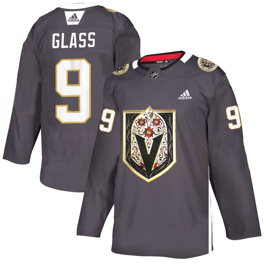 Vegas Golden Knights 9 Cody Glass Gray Dia De Los Muertos Adidas Jersey