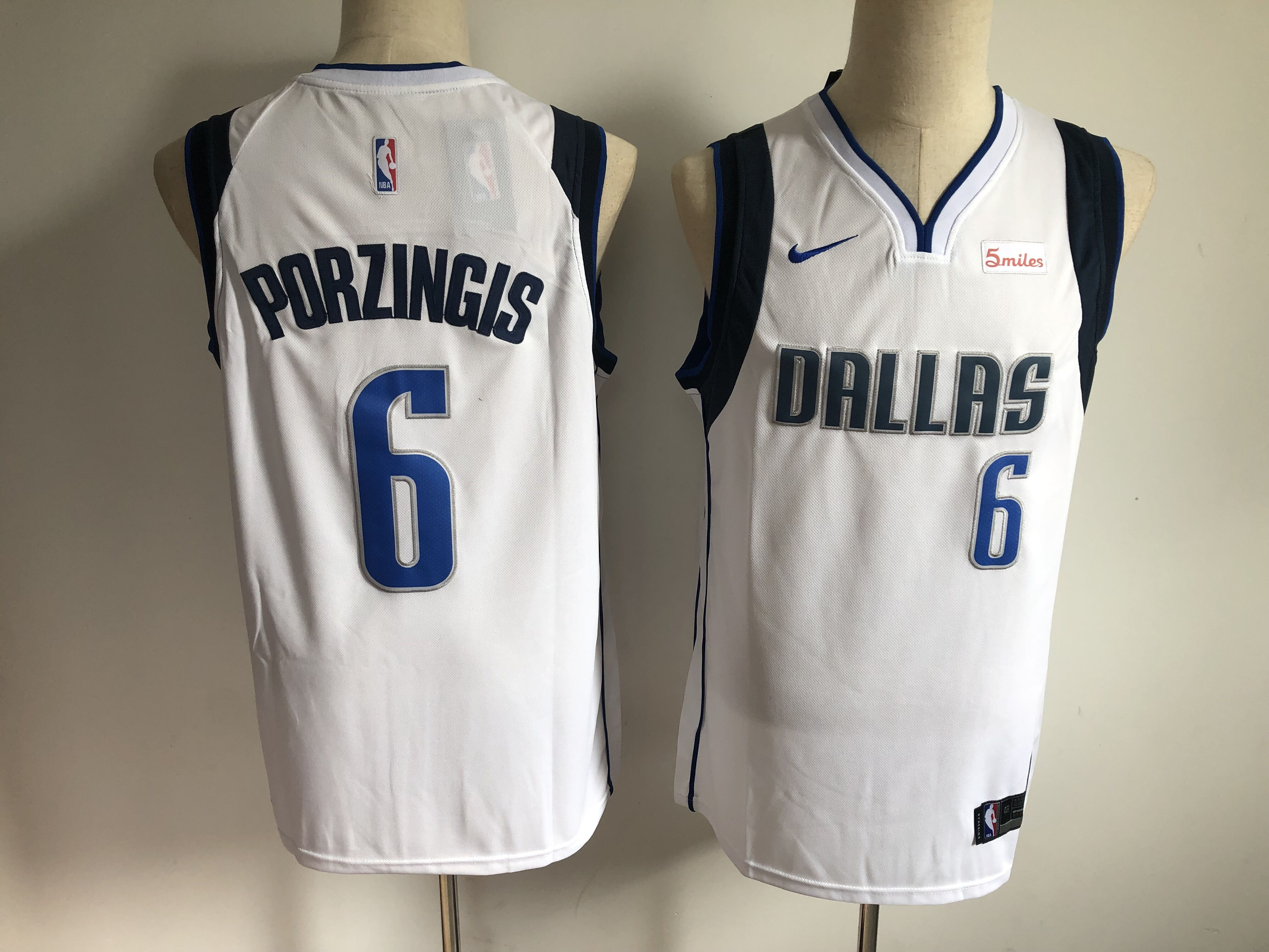 Mavericks 6 Kristaps Porzingis White Nike Authentic Jersey