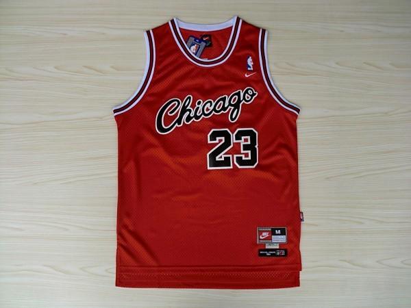 Bulls 23 Michael Jordan Red Nike Swingman Jerseys