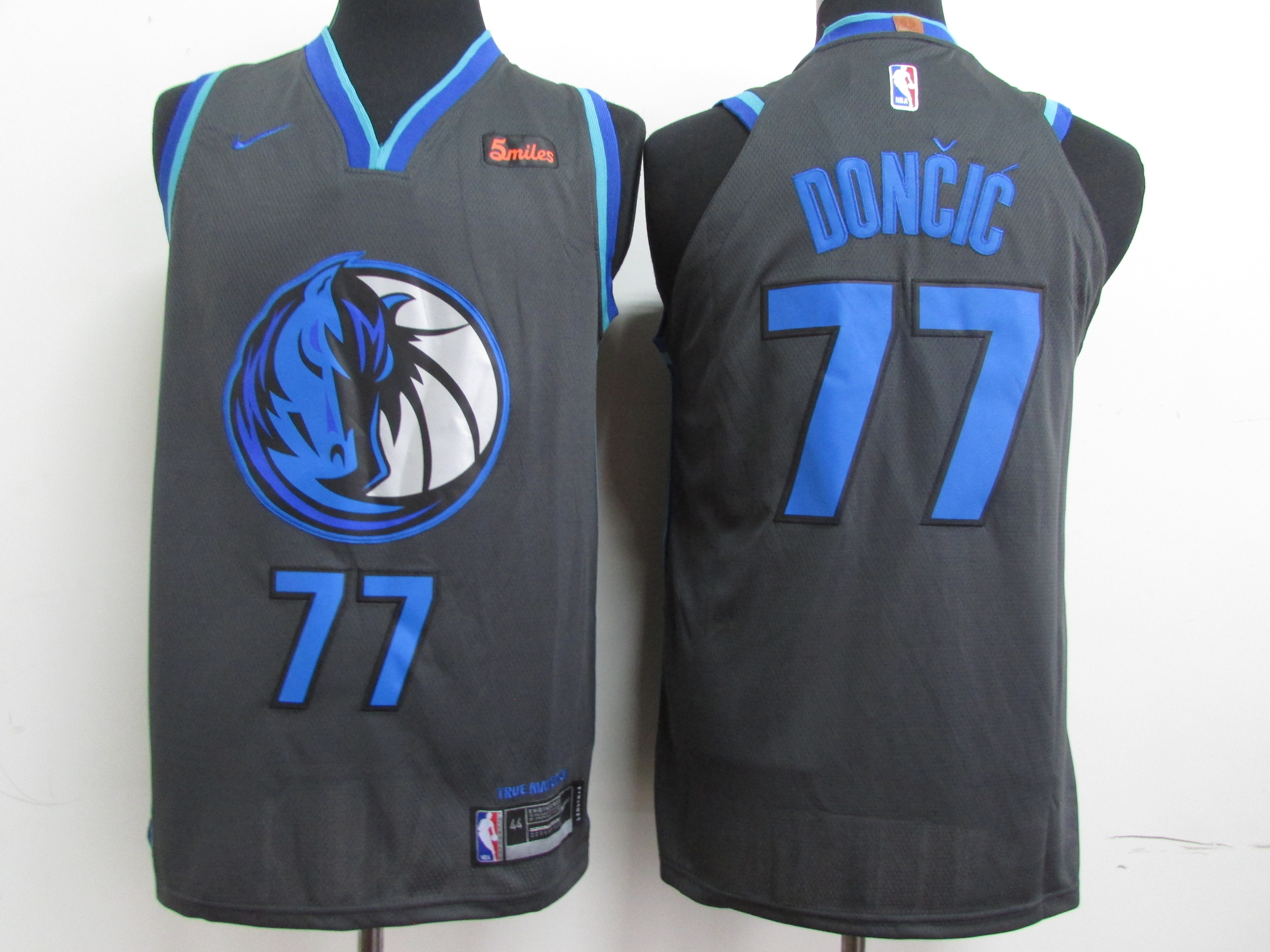 Mavericks 77 Luka Doncic Black 2018-19 City Edition Nike Authentic Jersey
