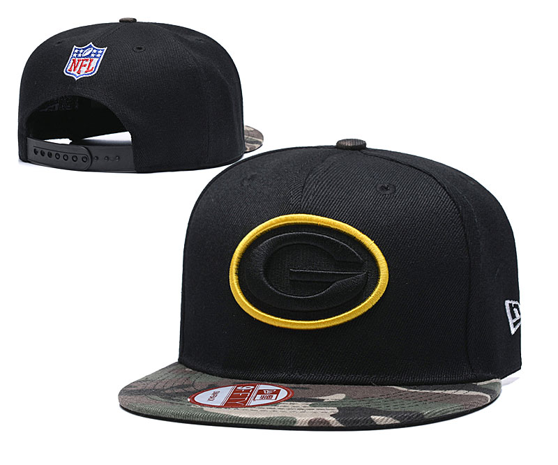 Packers Team Logo All Black Adjustable Hat TX