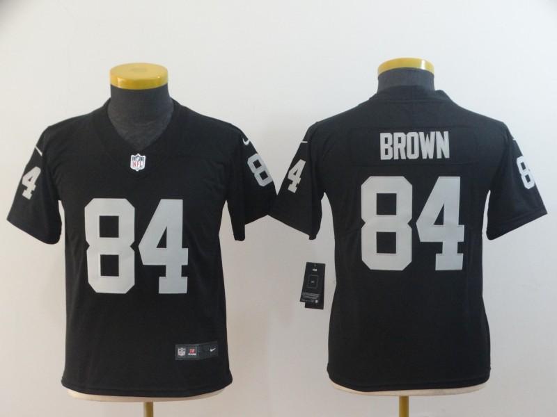 Raiders 84 Antonio Brown Black Youth Vapor Untouchable Limited Jersey