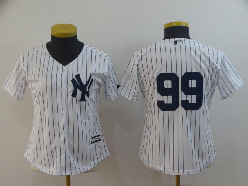 Yankees 99 Aaron Judge White Women Cool Base Jersey
