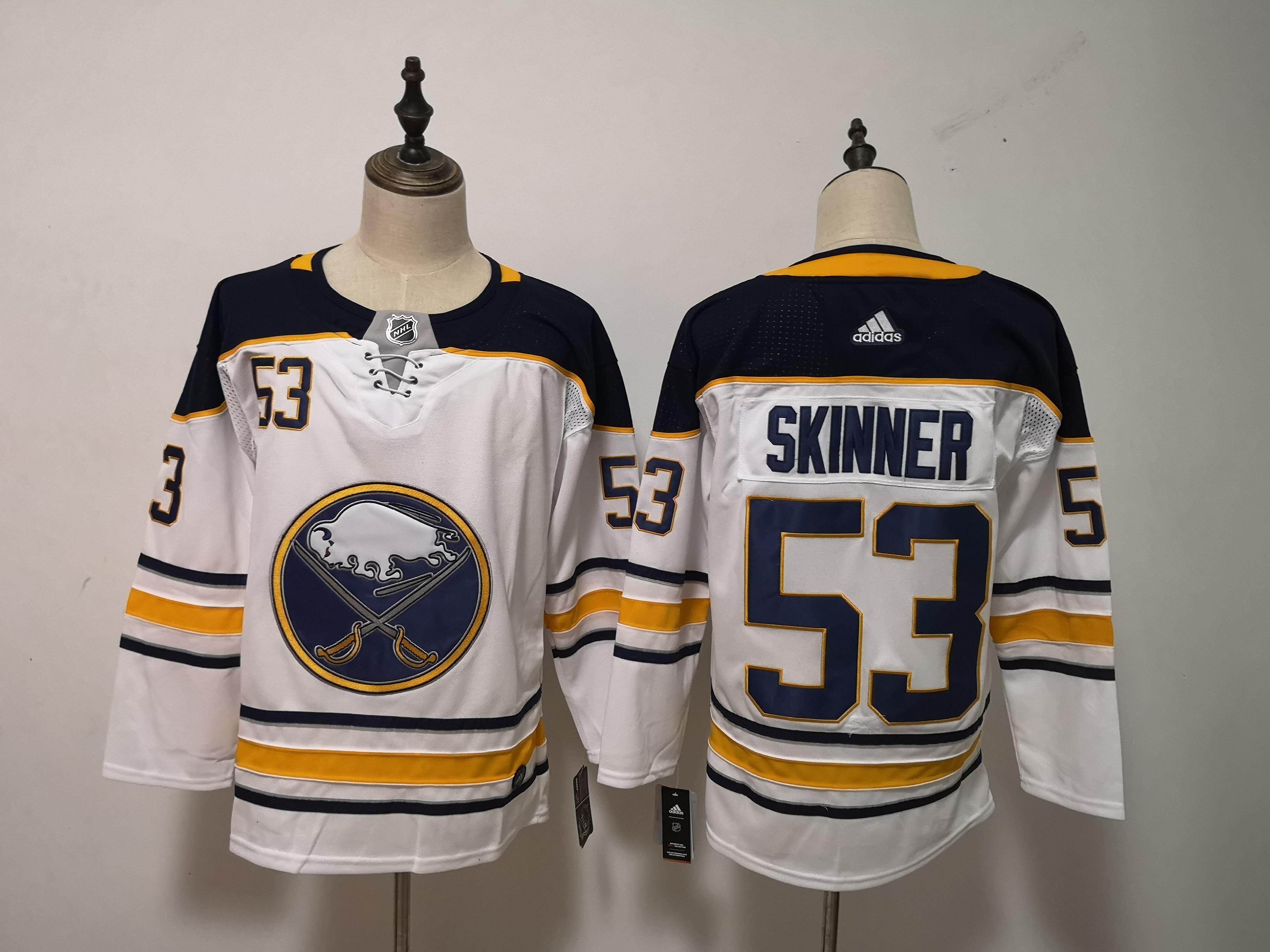 Sabres 53 Jeff Skinner White Adidas Jersey